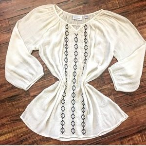 Boho Long Sleeve Tunic Top Size 10/12